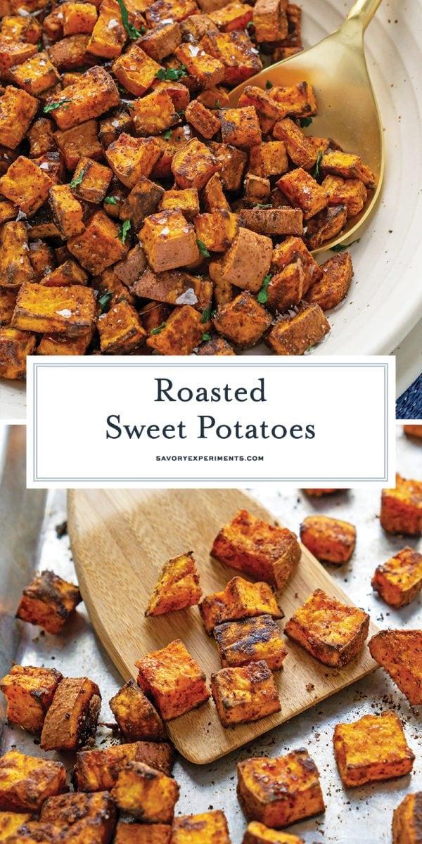 crispy roasted sweet potatoes for pinterest