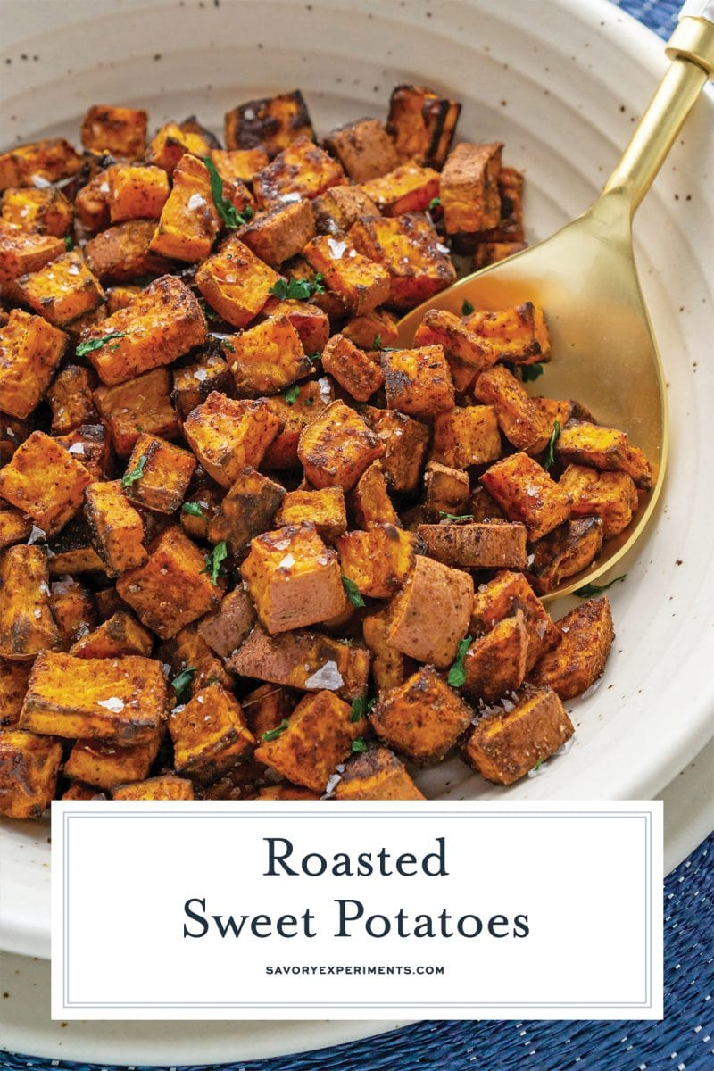 close up of sweet potatoes for pinterest