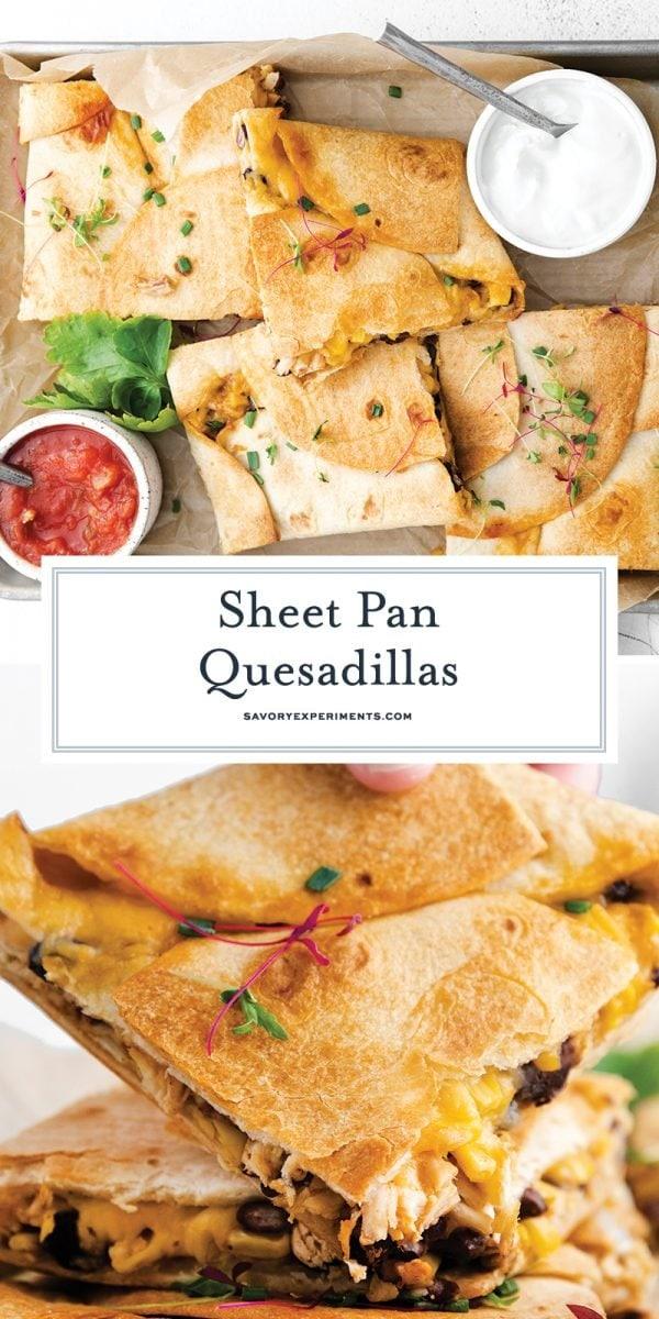 sheet pan quesadillas for pinterest