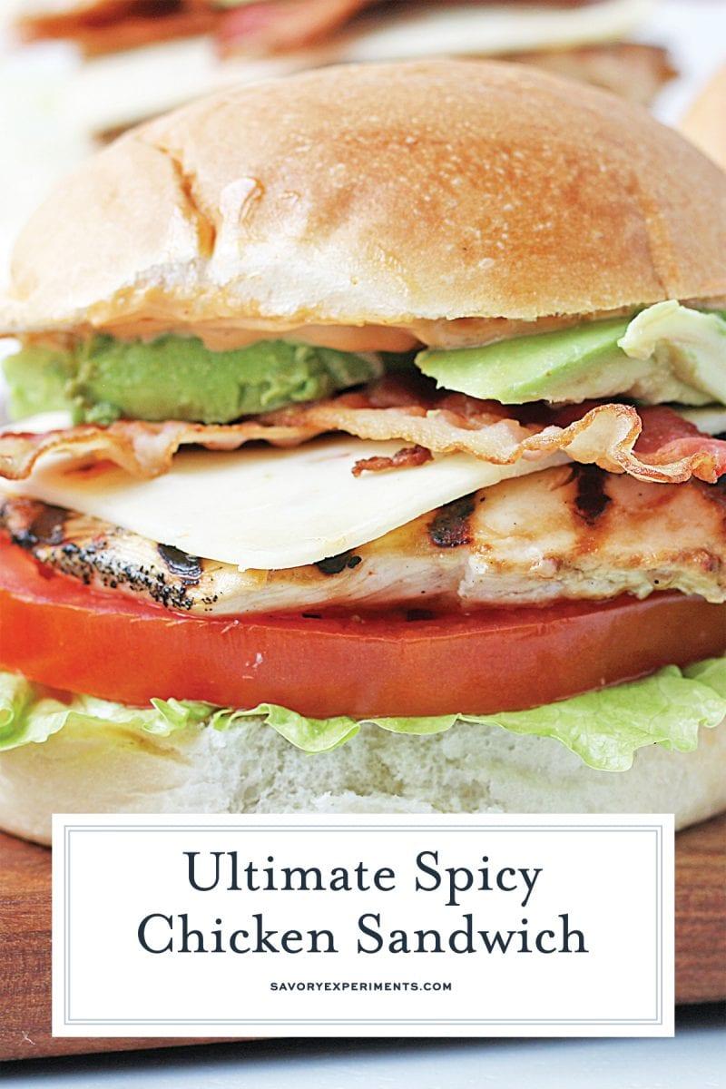 spicy chicken sandwich for pinterest