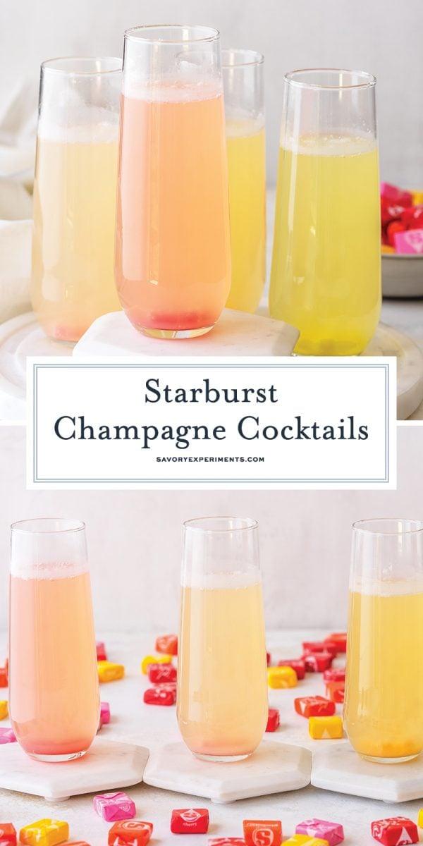 starburst champagne cocktails for pinterest