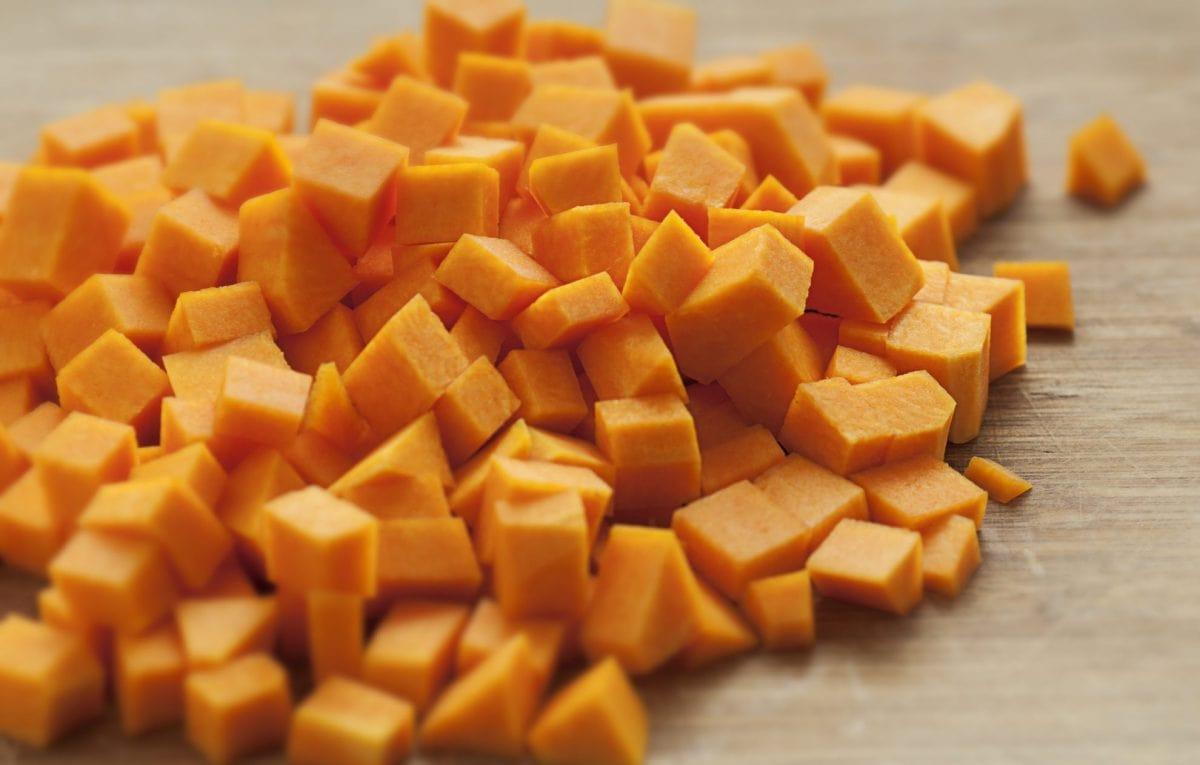 butternut squash chopped into cubes