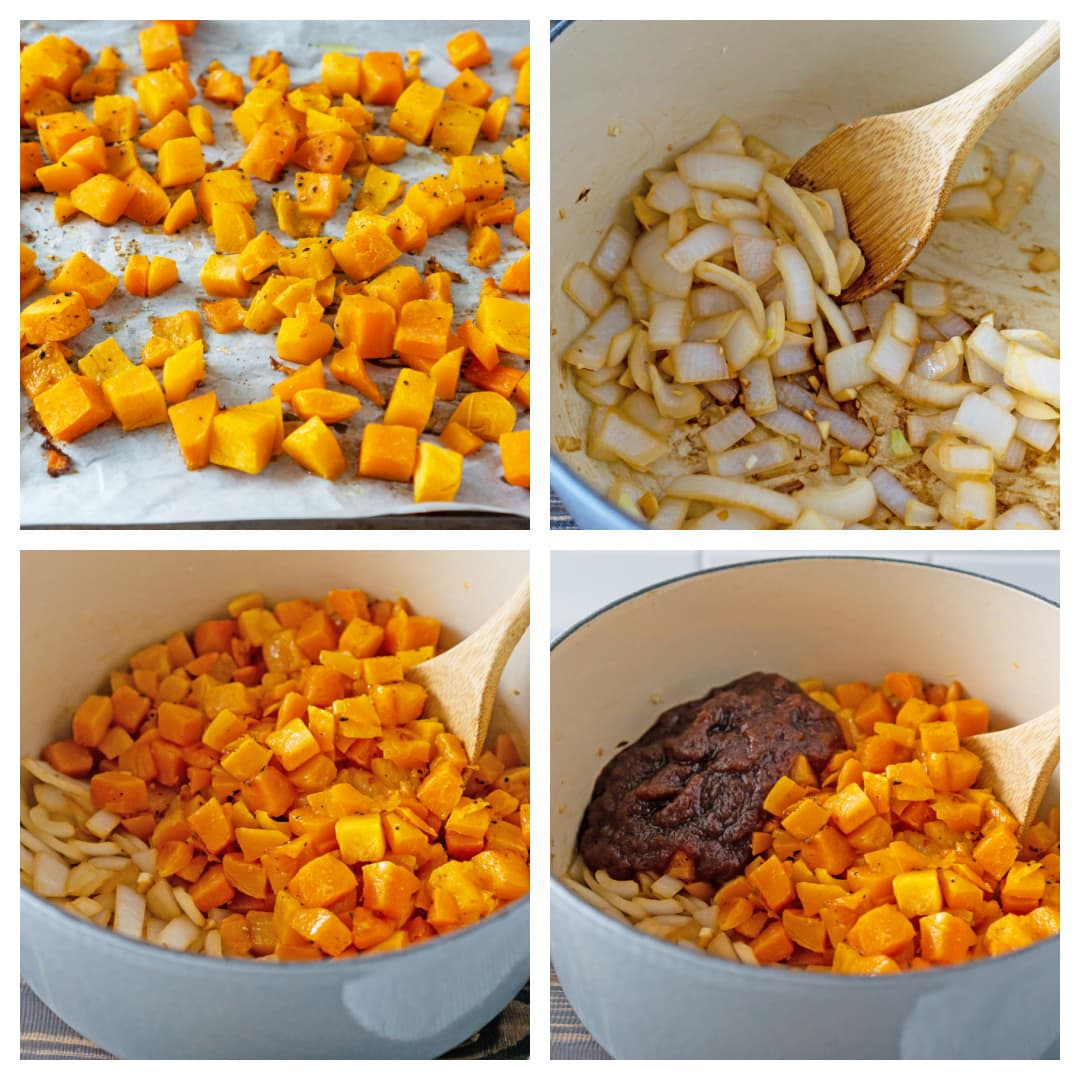 how to make butternut squash soup tutorial pictures