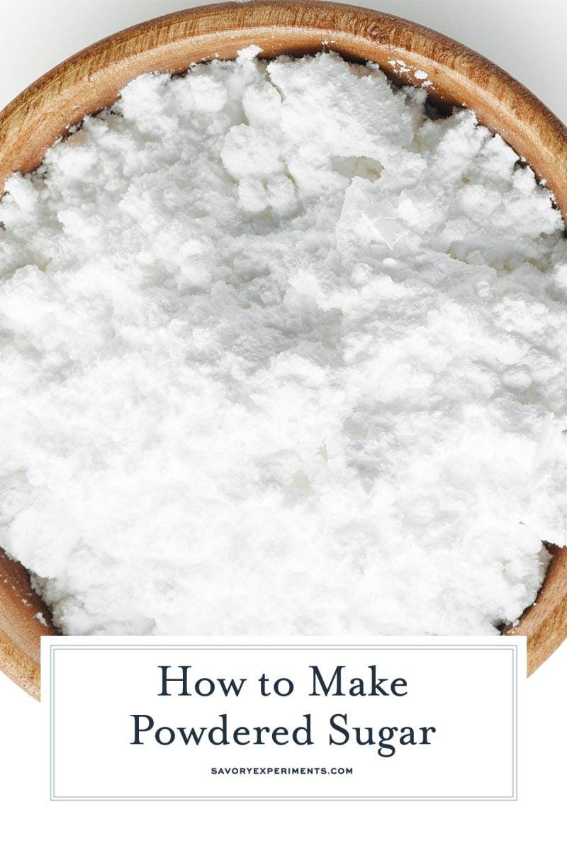 powdered sugar for pinterest