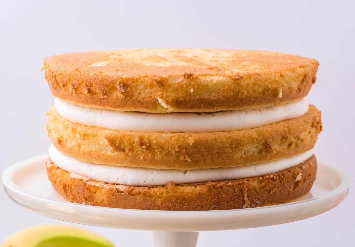naked banana pudding layer cake