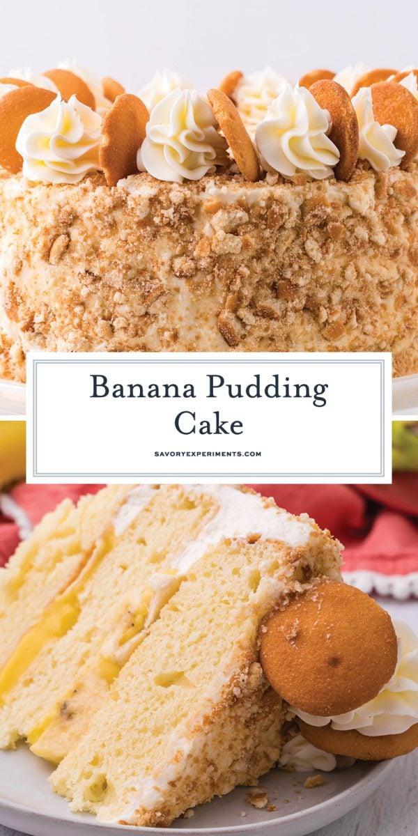 banana pudding cake for pinterest