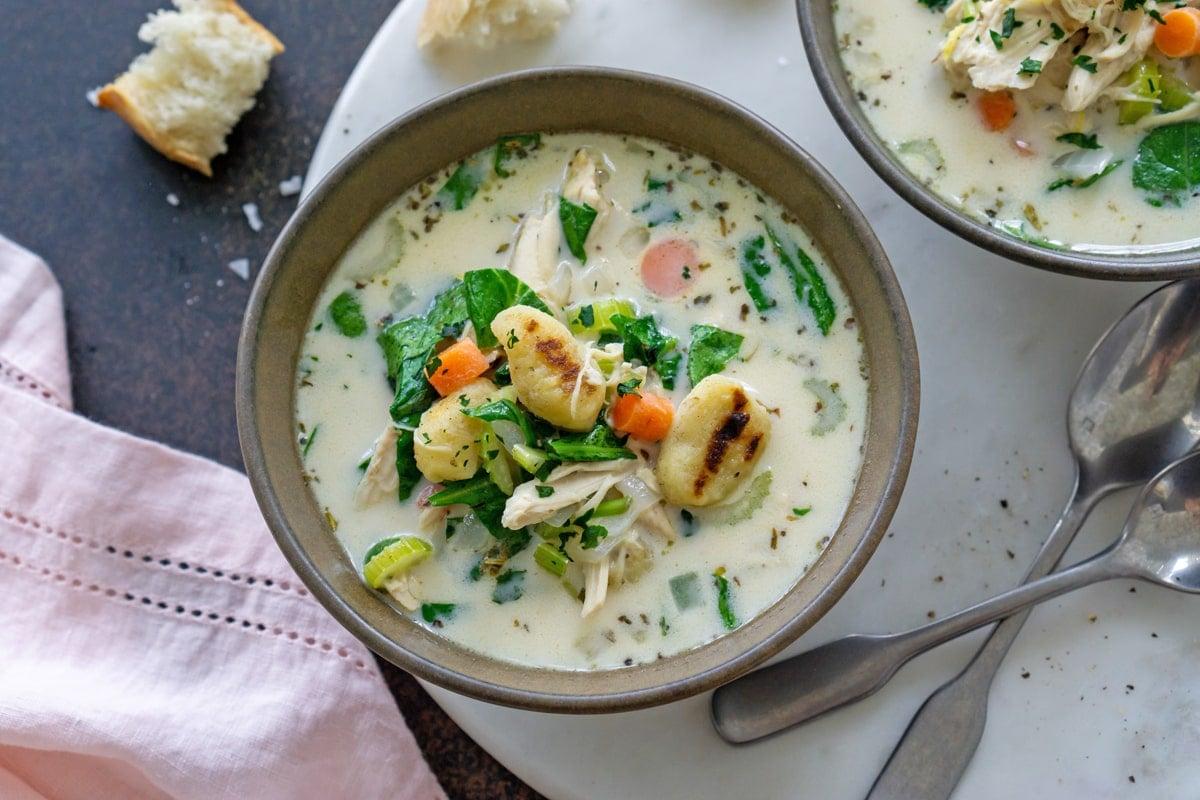 bowl of creamy soup