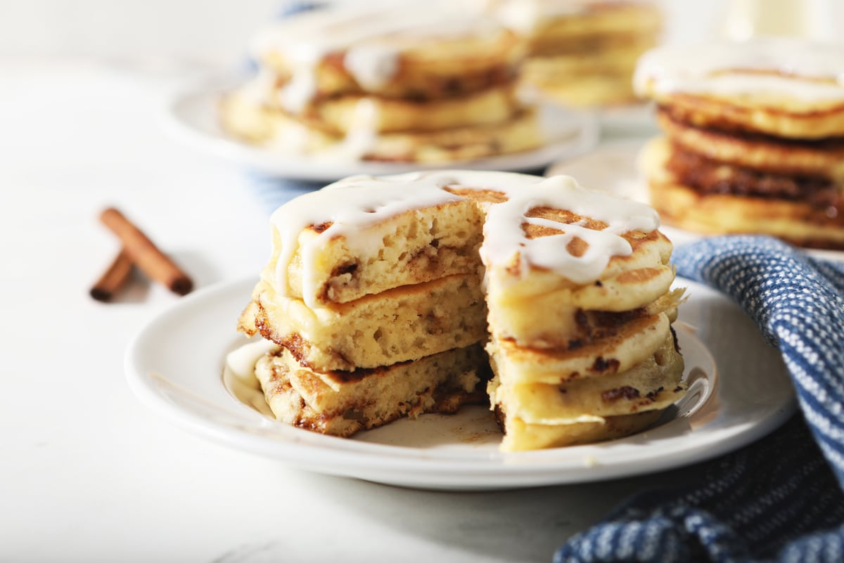 pancakes with drizzle