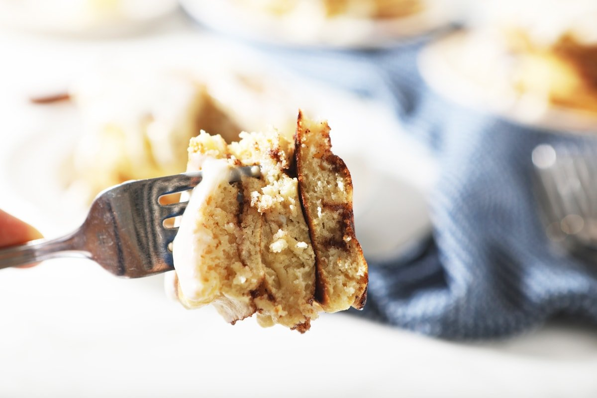 fork of pancakes