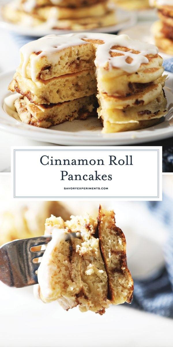 cinnamon swirl pancakes for pinterest