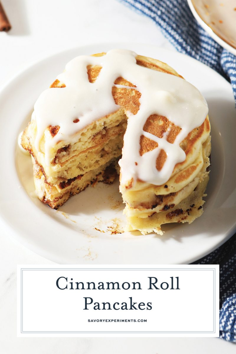 close up of cinnamon pancakes