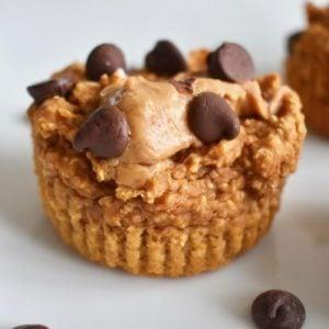 close up of sweet potato muffins