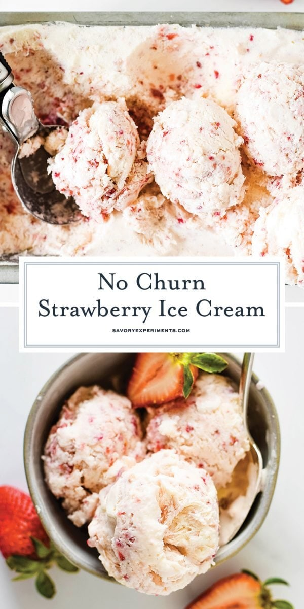no churn strawberry ice cream for pinterest