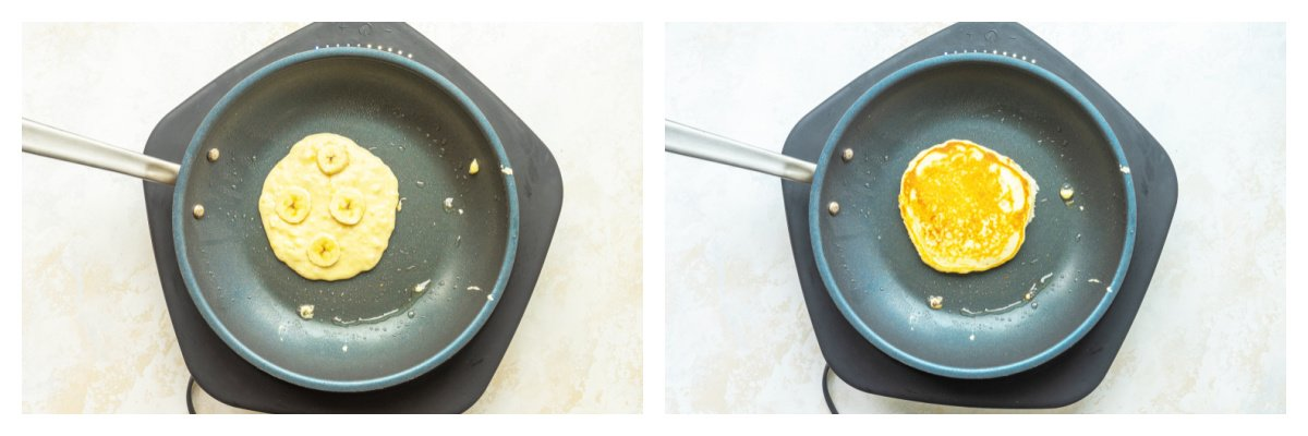 how to make banana pancakes in a skillet