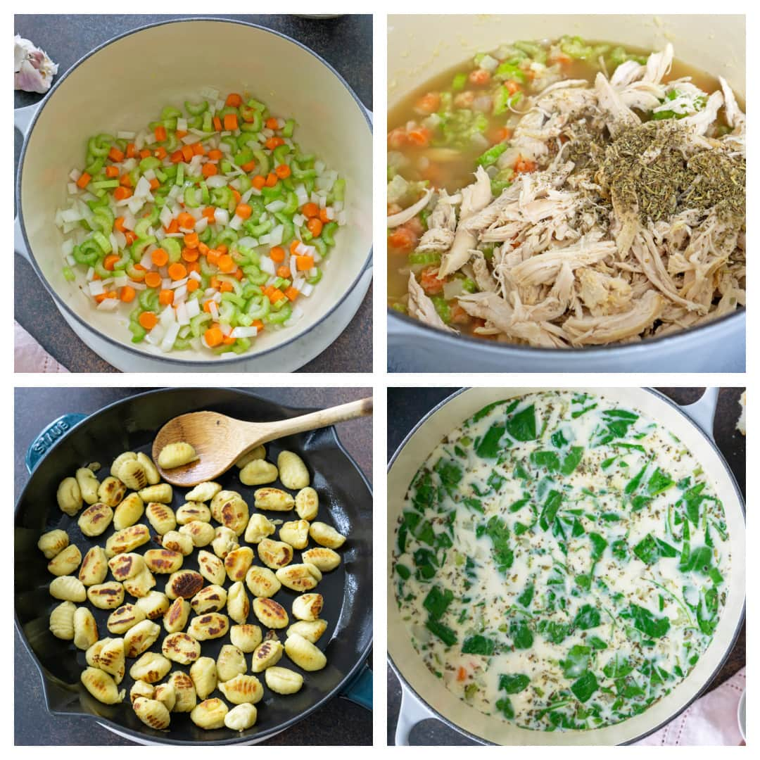 step-by-step how to make gnocchi soup