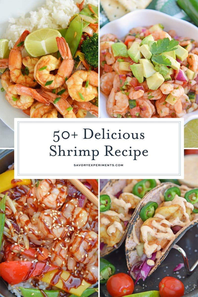collage of shrimp recipes