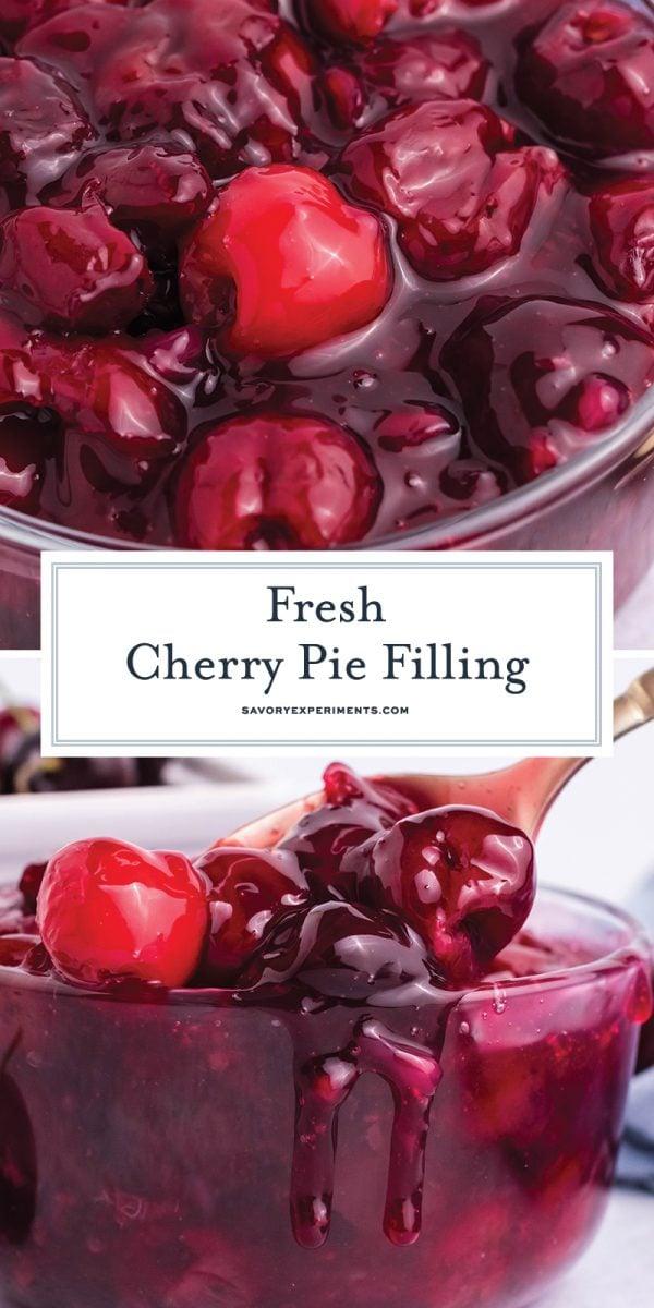 fresh cherry pie filling for pinterest