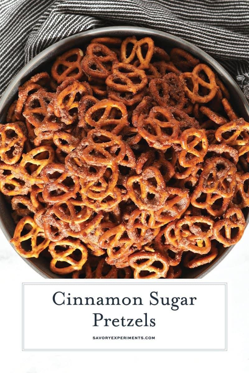 overhead cinnamon sugar pretzels