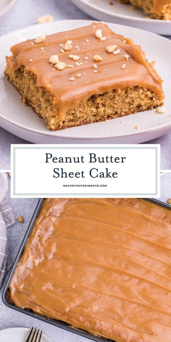 peanut butter cake for pinterest