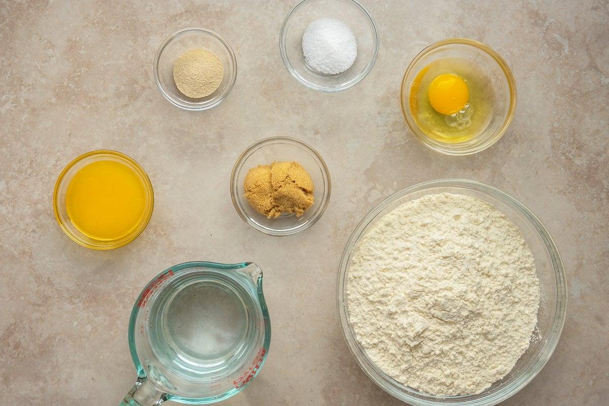 ingredients for soft pretzel bites