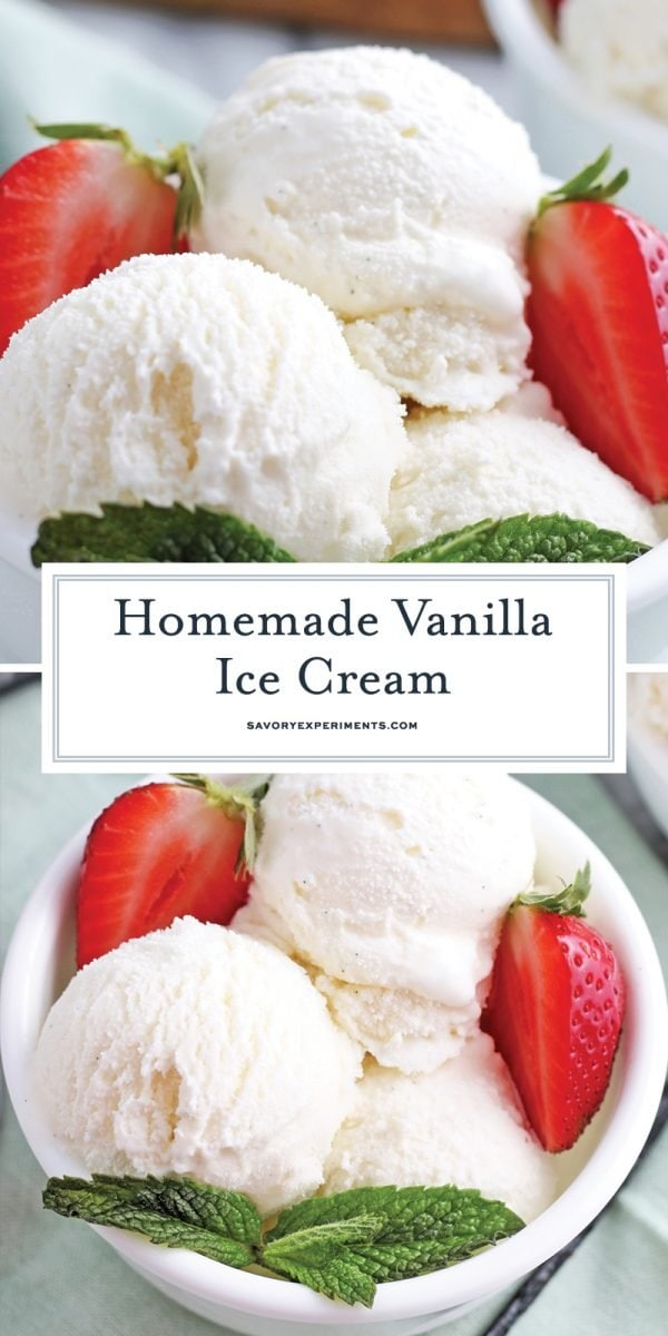 homemade vanilla ice cream for pinterest