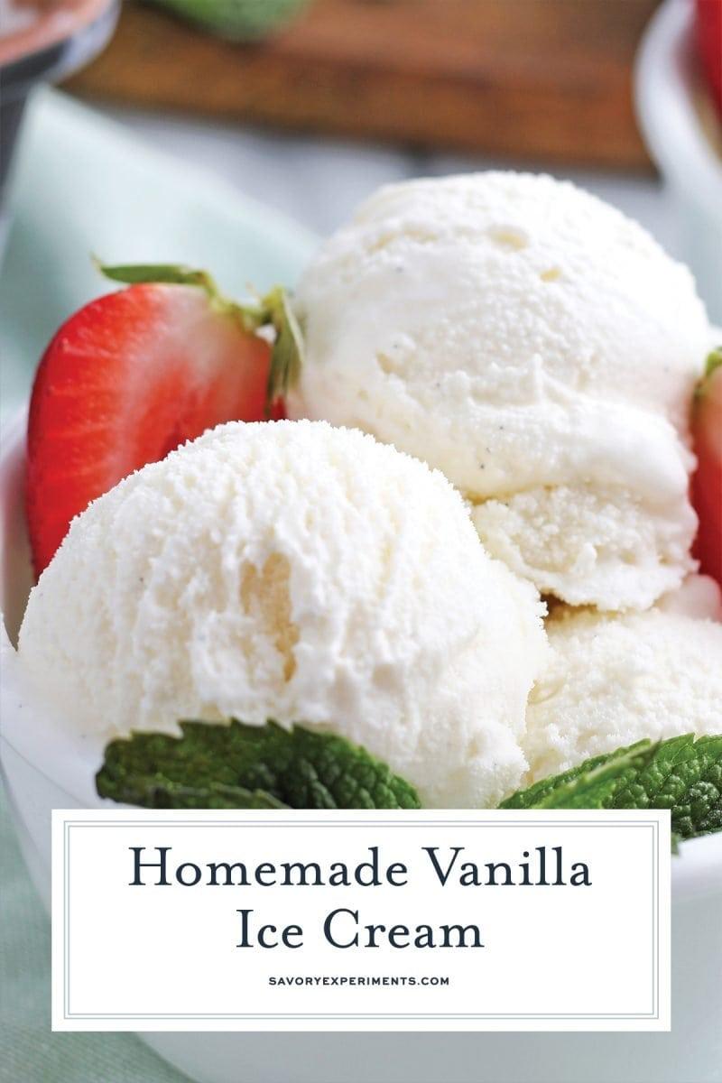 close up of vanilla bean scoop