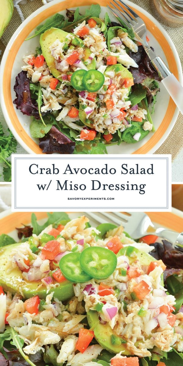 crab and avocado salad for pinterest