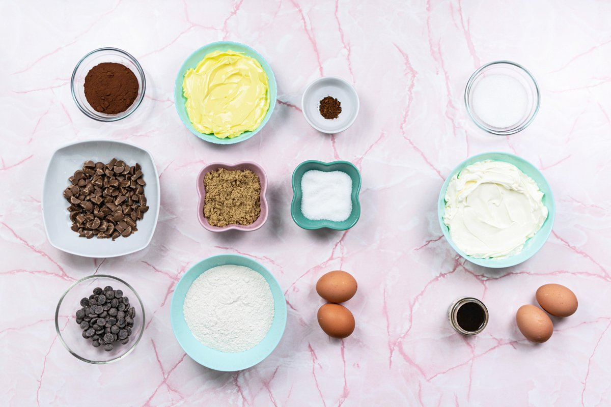 ingredients for cream cheese brownies