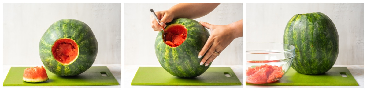how to cut a lid into the top of a watermelon