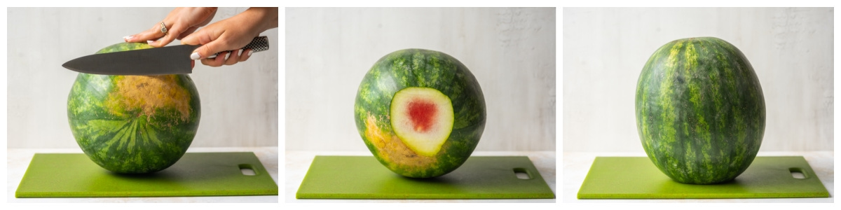 how to cut a watermelon so it stands up straight