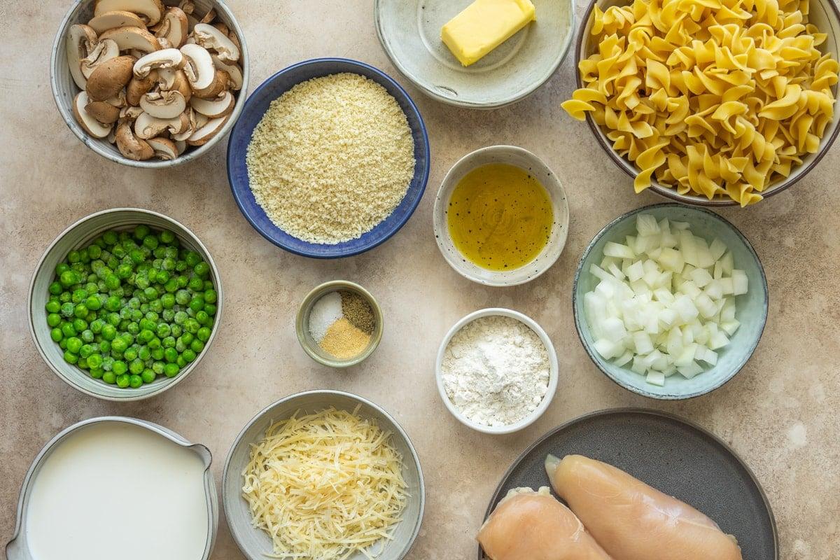 ingredients for easy chicken tetrazzini