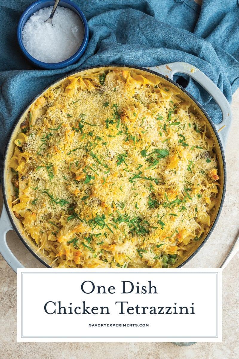 close up of cheesy chicken casserole recipe