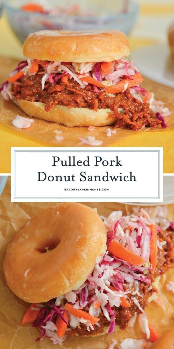 pulled pork donut sandwich for pinterest