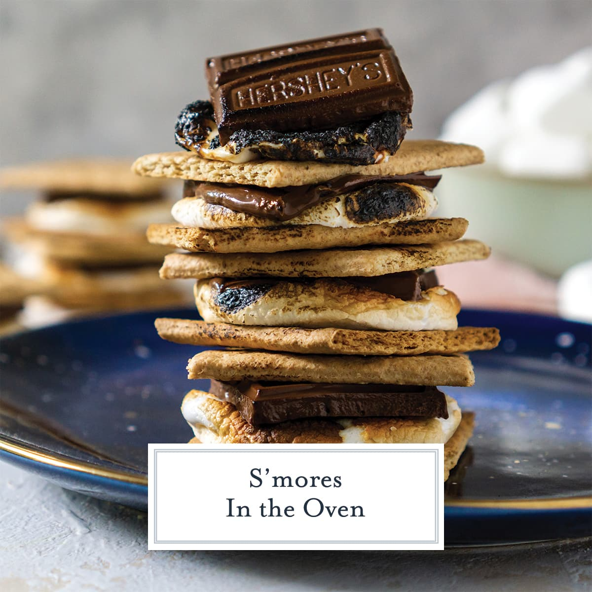 How to make smores in the oven at home with no fire. Pair with caramel sauce or use one of our 20+ variations!