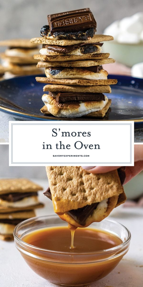 smores in the oven for pinterest