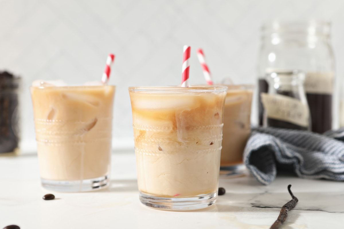 ready to serve cold brew coffee with creamer