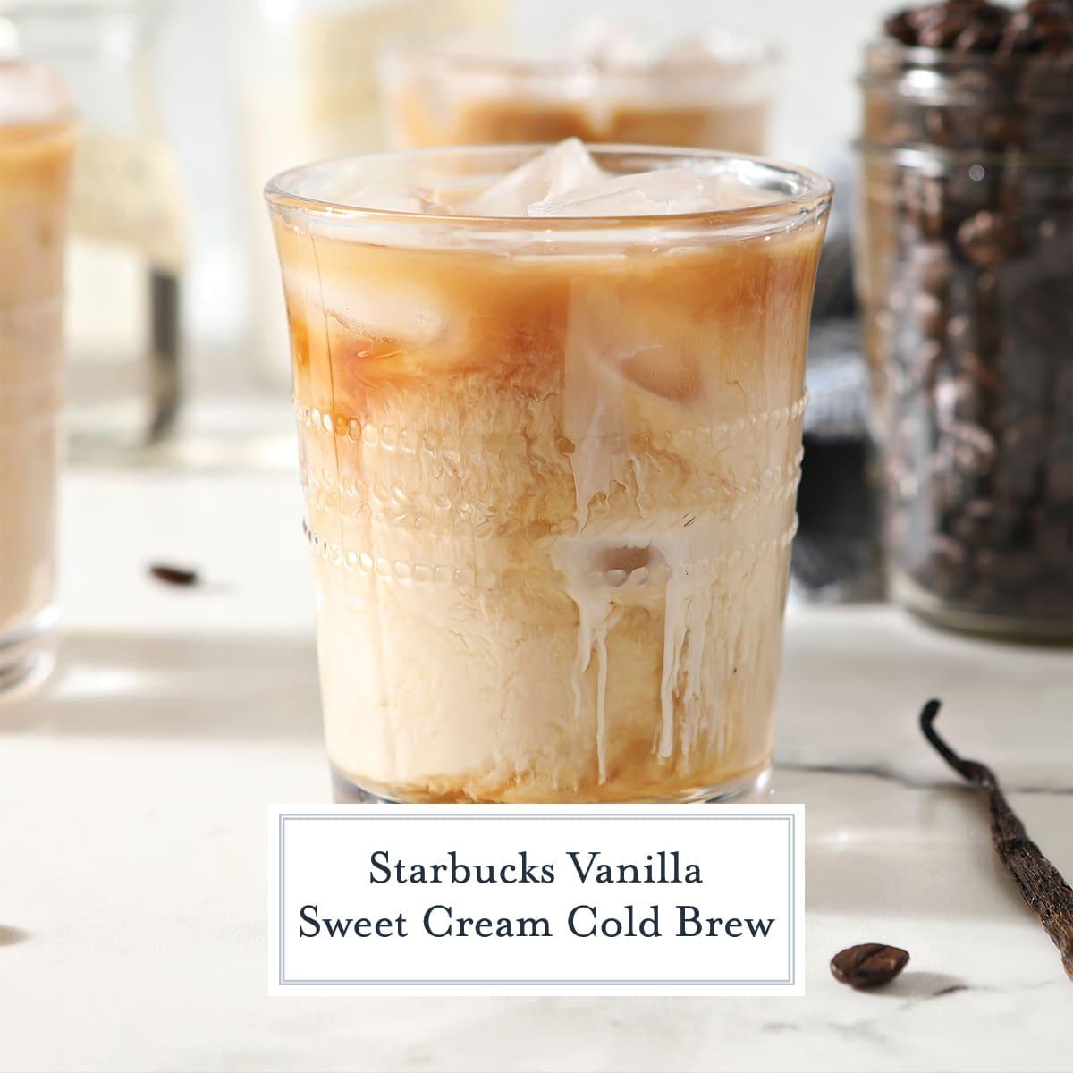 copycat starbucks vanilla cold brew in a glass