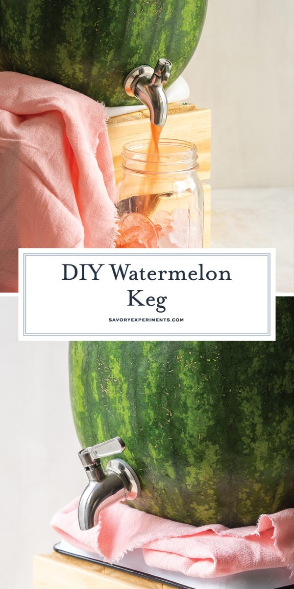 how to make a watermelon keg for pinterest