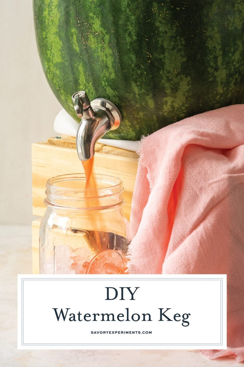 how to make a keg out of a watermelon for pinterest