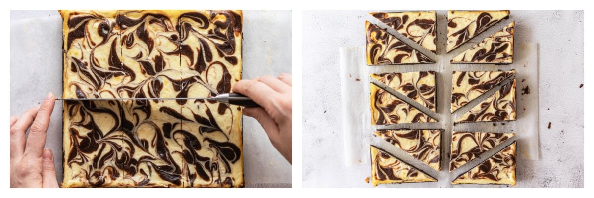 how to cut brownies into triangles