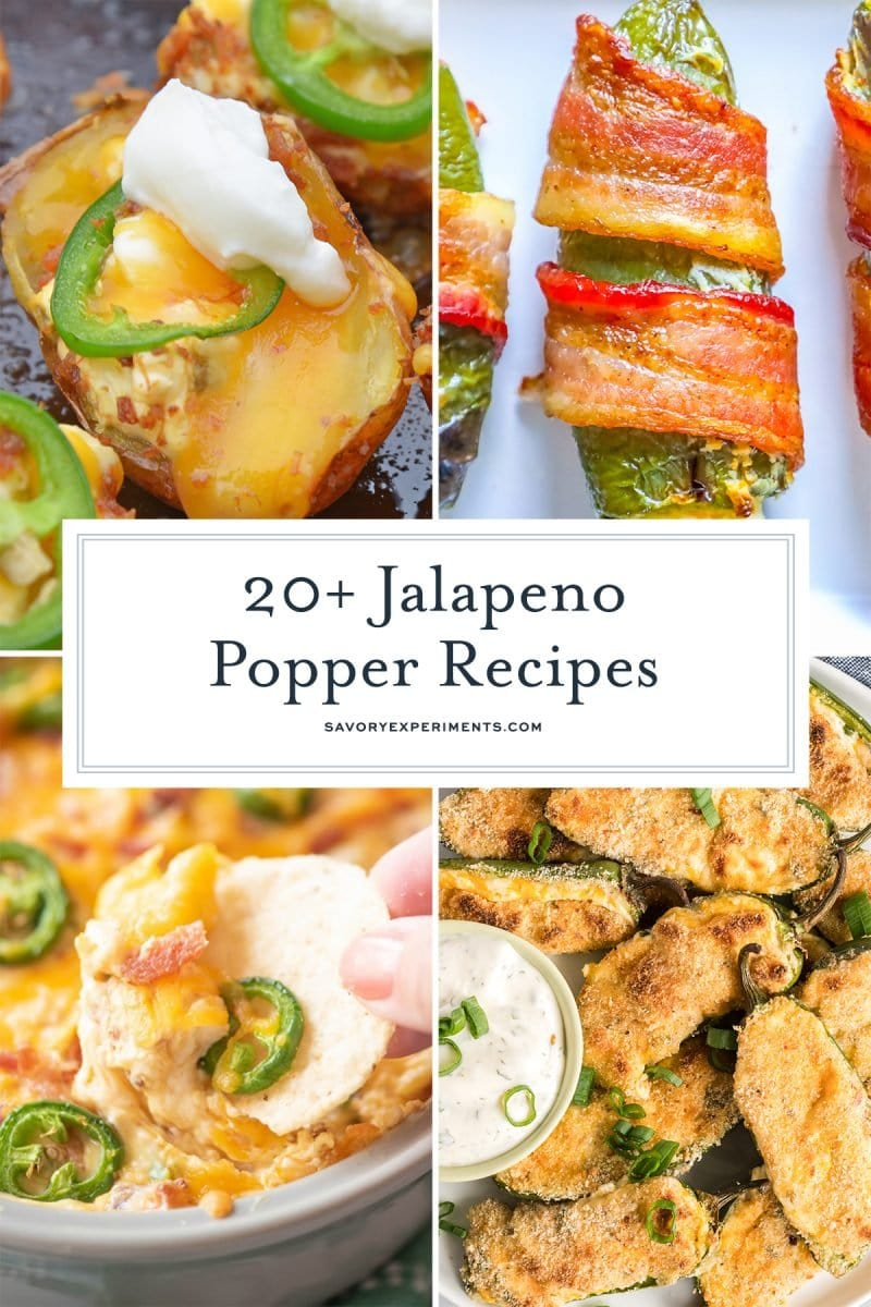 collage of jalapeno popper appetizers