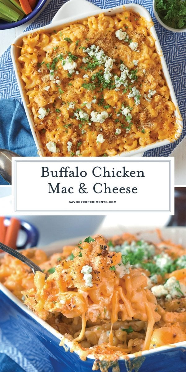 buffalo chicken mac and cheese for pinterest