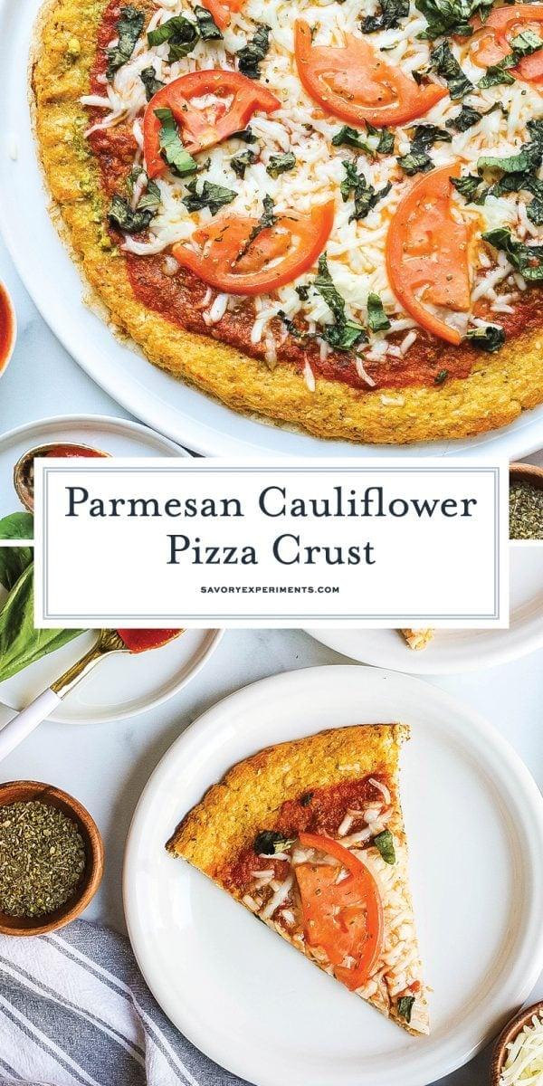 parmesan cauliflower pizza crust for pinterest