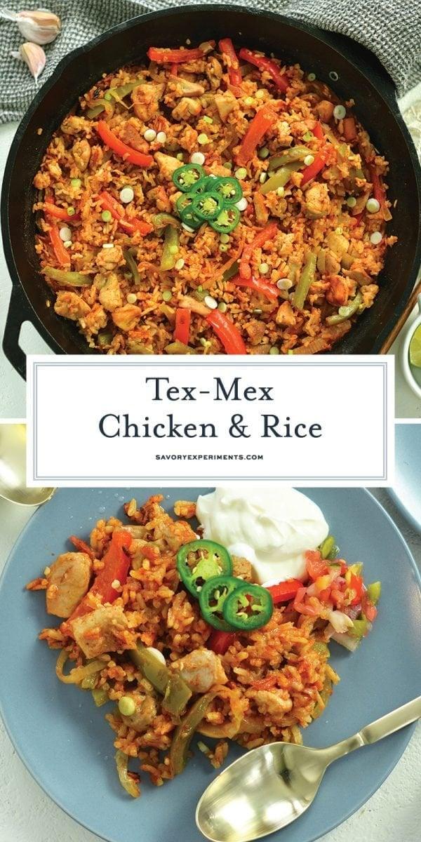 tex-mex rice skillet for pinterest