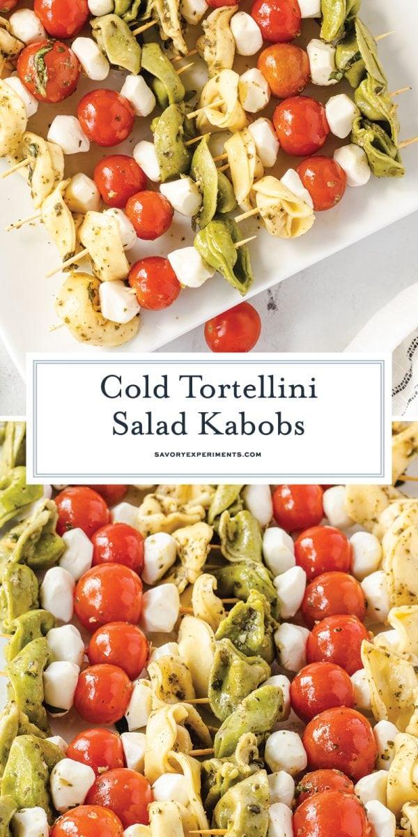 cold tortellini salad skewers for pinterest
