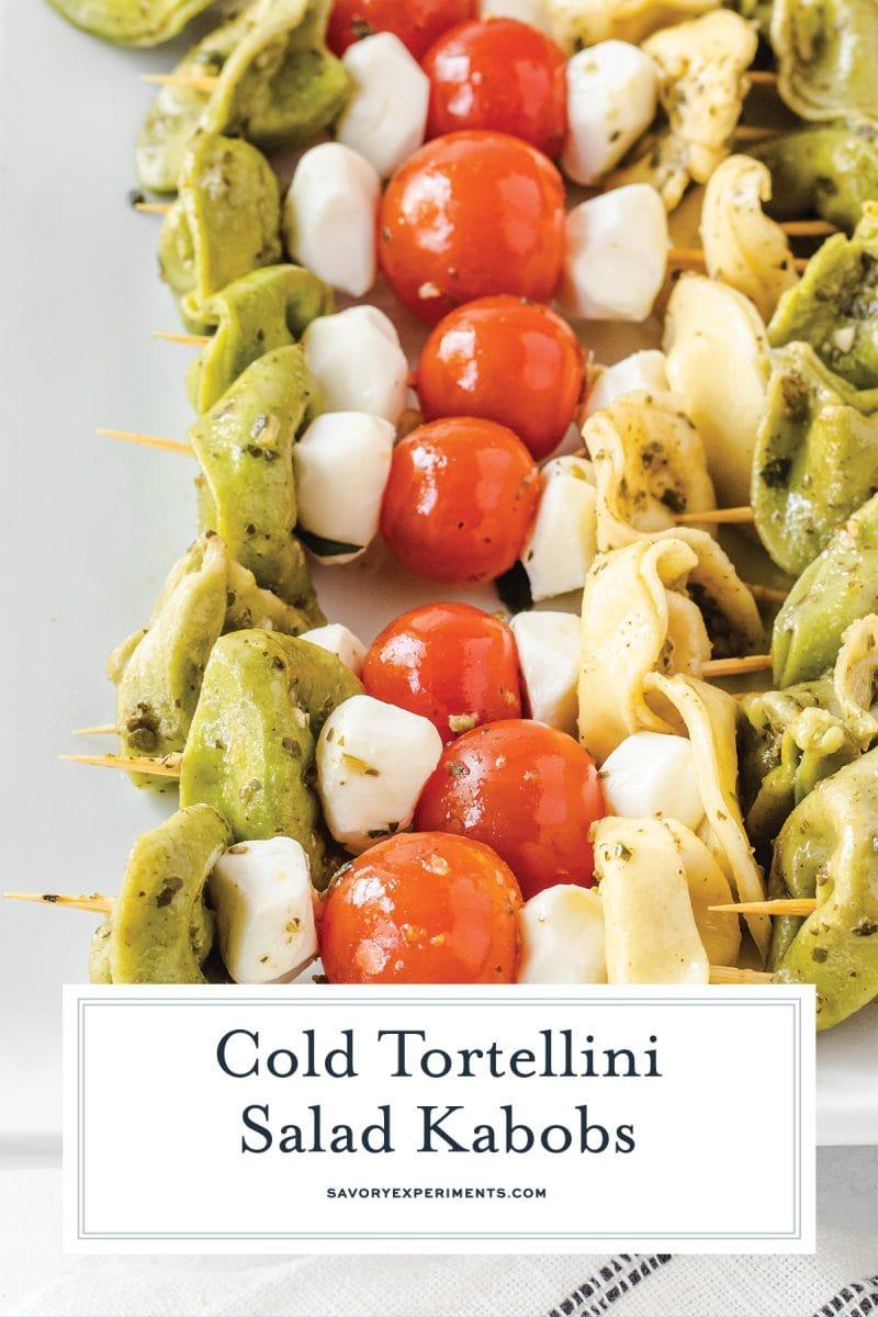 close up of tortellini kabobs