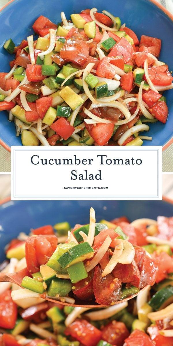 cucumber tomato salad for pinterest