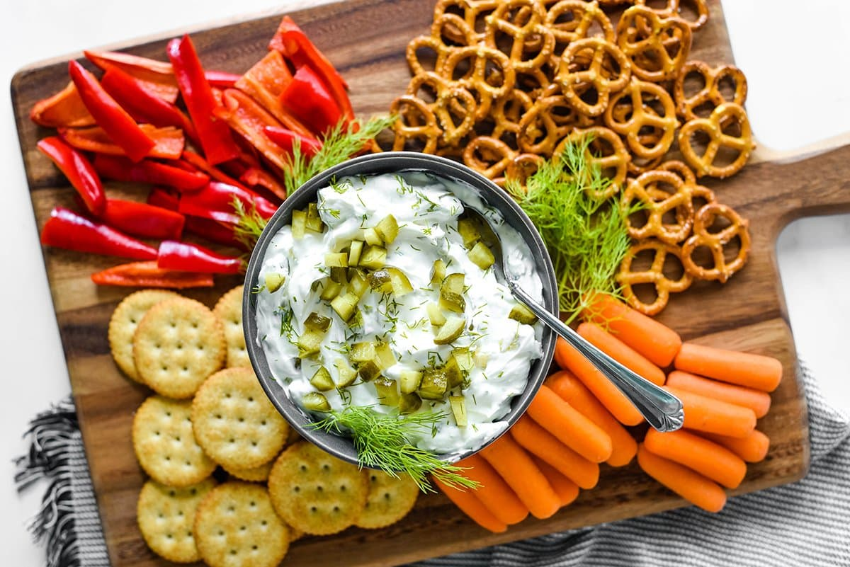 what to serve dill pickle dip with
