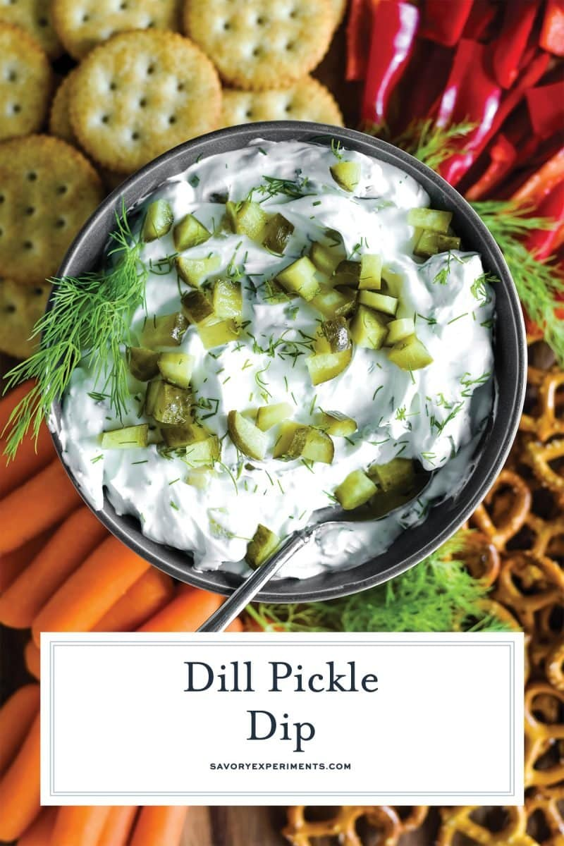 dill pickle dip with fresh veggies