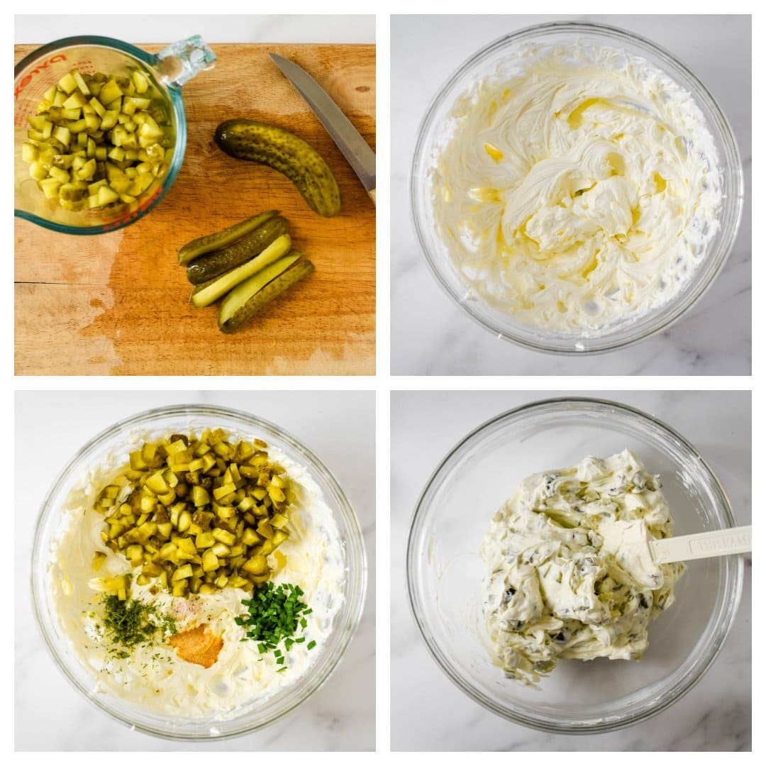 step by step pics of how to make dill pickle dip
